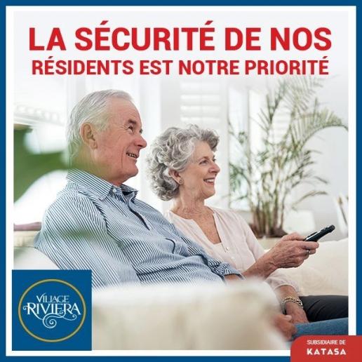 la sécurité de nos résidents est notre priorité